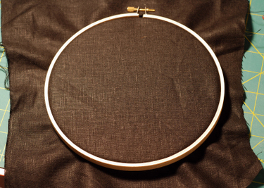 Iron_backing_fabric_and_put_in_hoop